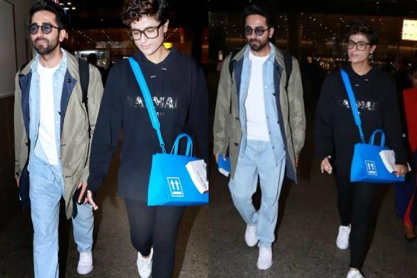 ayushmann khurrana spotted at airport after enjoy holiday in austria with tahira