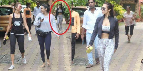 malaika arora and amrita arora spotted outside yoga classes