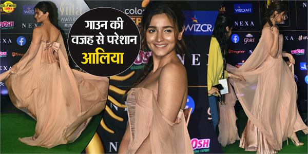alia bhatt nude makeup look at iifa awards 2019