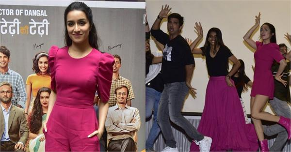 shraddha kapoor stunning look as she spotted for film promotion at kc college