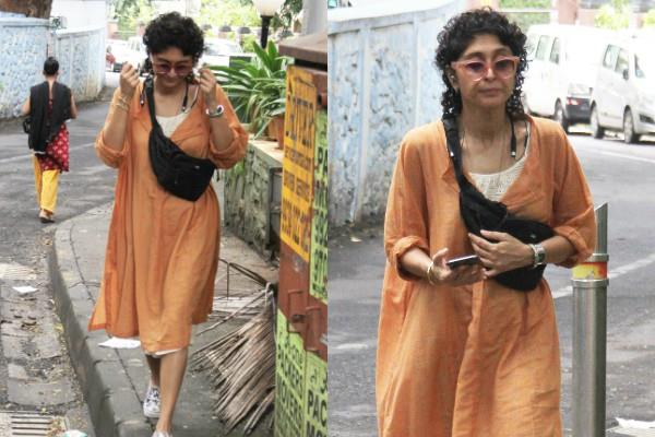 kiran rao spotted without makeup on bandra streets