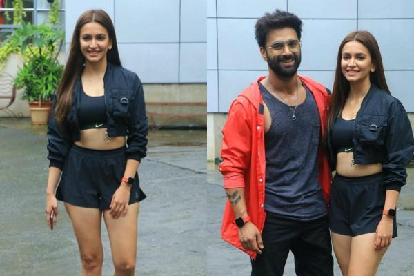 kriti kharbanda pulkit samrat spotted outside the dance class
