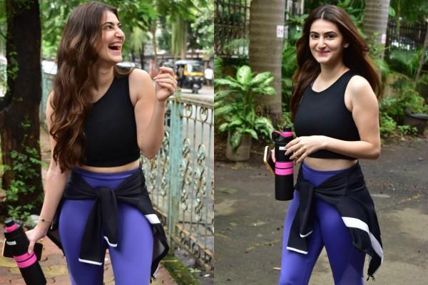 karam rajpal fiance shivaleeka oberoi spotted outside gym