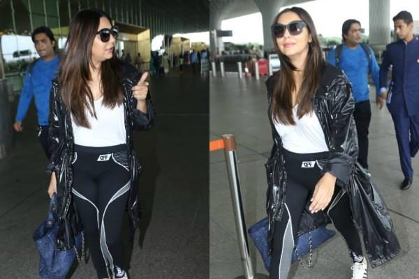 gauri khan spotted at airport