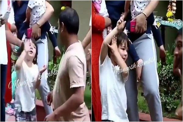 watch taimur ali khan s supercute video