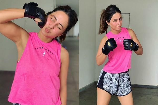 hina khan gym look pictures viral