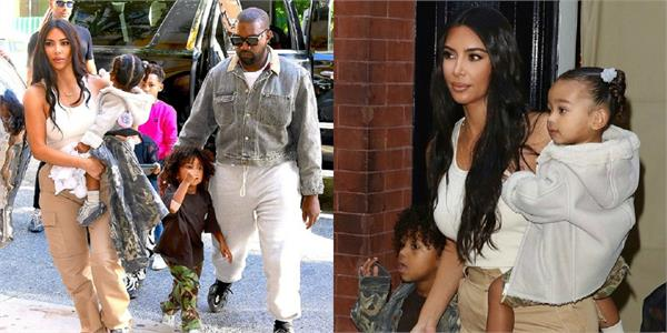kim kardashian lunch date with familt at new york city
