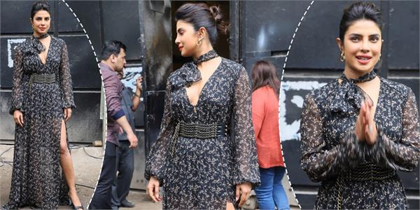 priyanka chopra looks stunning during film promotion