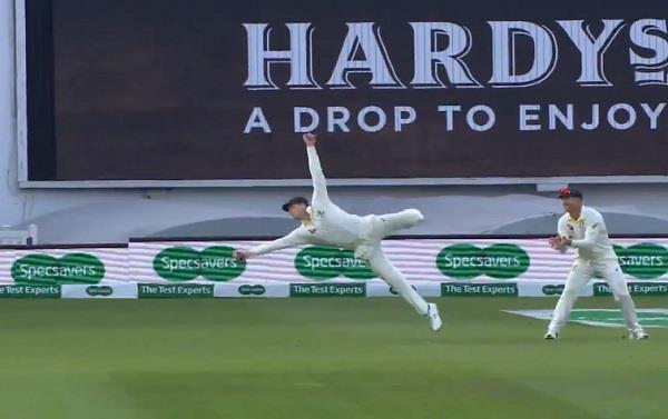 video smith caught a surprise catch of woakes during the match
