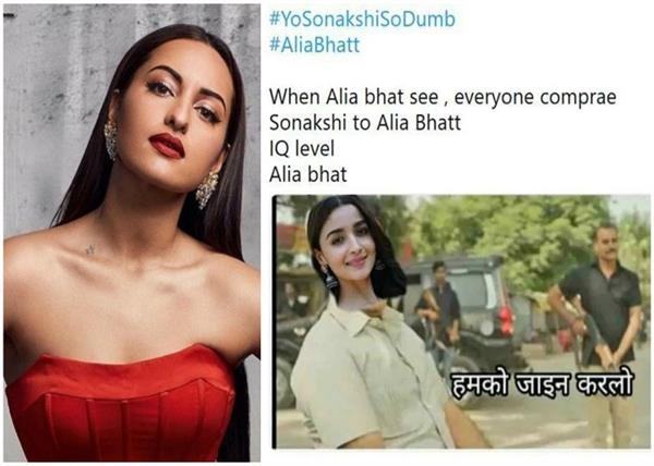 ever called dumb and stigma sonakshi also replied