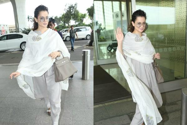 kangana ranaut looks beautiful as she arrives mumbai airport