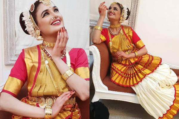 yuvika chaudhary indian classical look