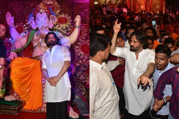sunil shetty celebrate ganesh chaturthi