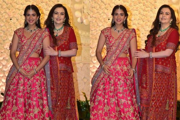 nita ambani bonding with son anant ambani girlfriend radhika merchant