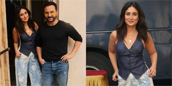 saif ali khan and kareena kapoor khan spotted at mehboob studio in mumbai