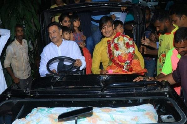 vivek oberoi gave emotional farewell to bappa