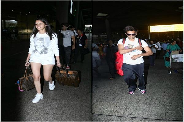 kartik aaryan and ananya panday spill style as they return from lucknow