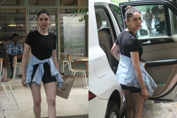 aditi rao hydari bold look at outside the kitchen garden in bandra