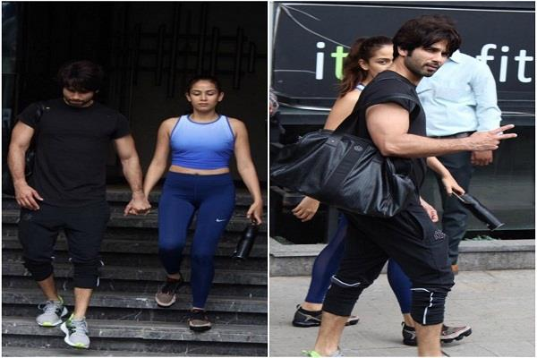 shahid kapoor and mira rajput become fitness freaks