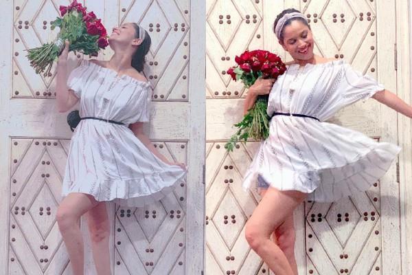 ऑफ शोल्डर शाॅर्ट ड्रेस में टीवी की बहू का स्टनिंग लुक, लेटेस्ट तस्वीरों में दिखा क्यूट अंदाज