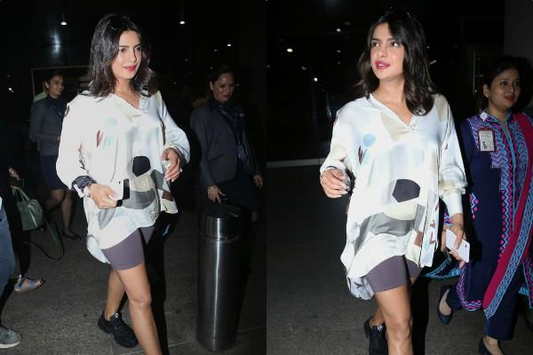 priyanka chopra spotted at mumbai airport