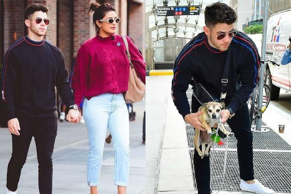 priyanka chopra stunning look as she spotted with hubby in new york