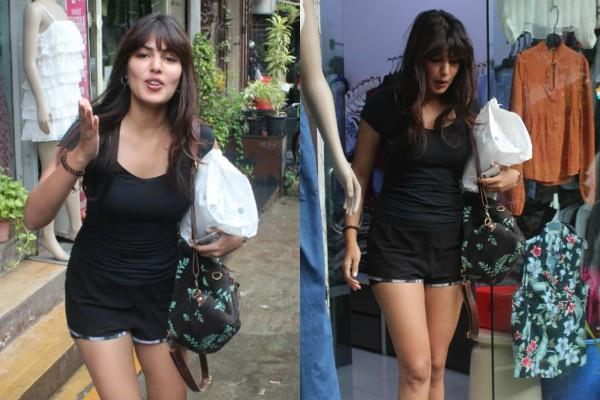rhea chakraborty stunning look in short