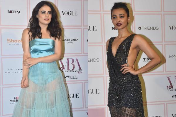 radhika apte and radhika madan transperant dresses