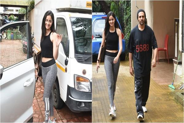 karthik and ananya spotted outside dance class twins in black