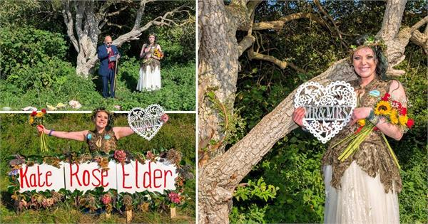 the woman got married to a tree