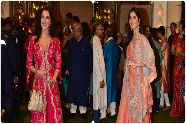 katrina kaif arrived at ambani s event with sister isabel