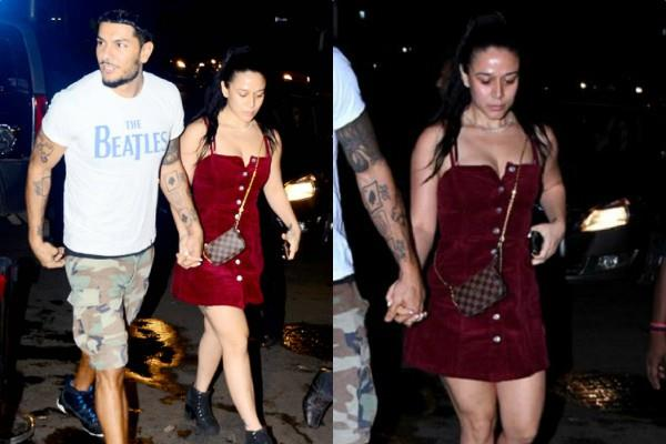 krishna shroff spotted with her boyfriend eban hyams