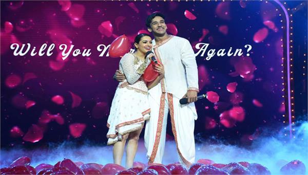 on the set of nach baliye 9 anita hassanadani get married again