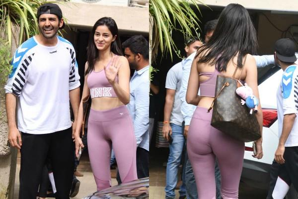 ananya panday spotted at dance rehearsals with kartik aaryan