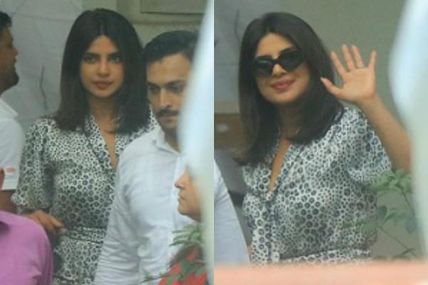 priyanka chopra spotted at sunny super sound juhu