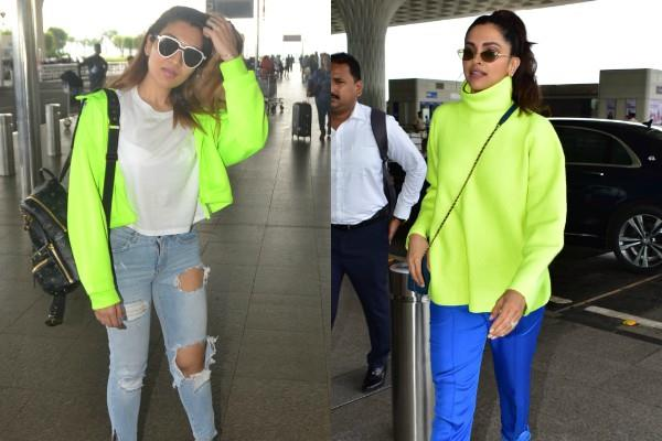 deepika padukone tina ahuja looking stylish latest airport look
