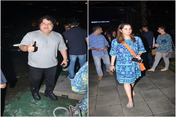 MeToo आरोप लगने के एक साल बाद नजर आए साजिद खान, सानिया मिर्ज़ा भी दिखी साथ