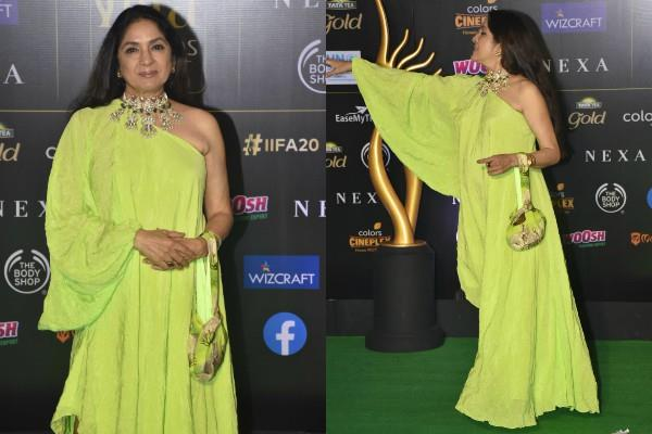 neena gupta at iifa awards 2019 green carpet