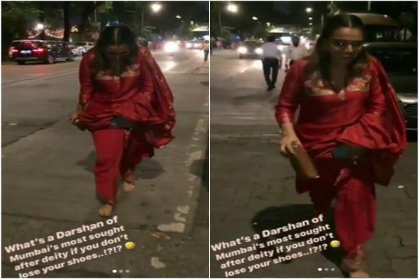 swara bhaskar shoes stolen when she visit ganesh pandal