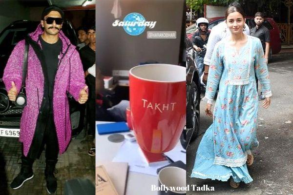 alia with ranveer singh karan johar for takht shares a glimpse of their