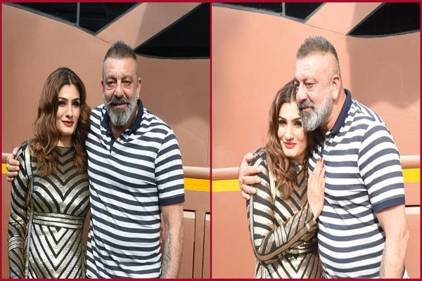 raveena tandon hugged sanjay dutt had crush on him
