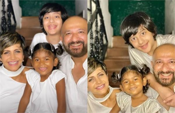 mandira bedi and her husband raj kaushal adopted four year old baby girl