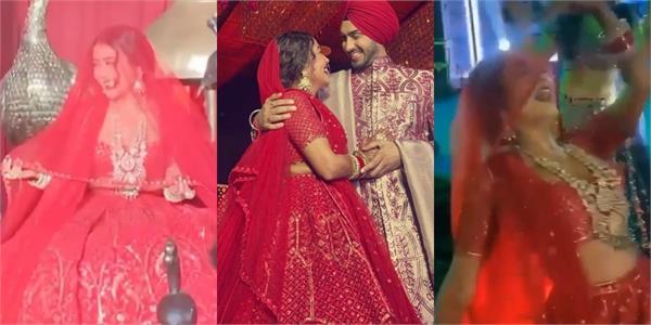 neha kakkar grand entry rohanpreet performance see videos from lavish wedding