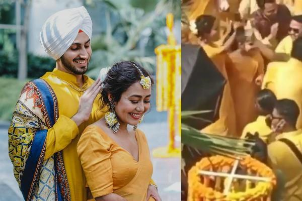 neha kakkar dance with family and friends at her haldi ceremony