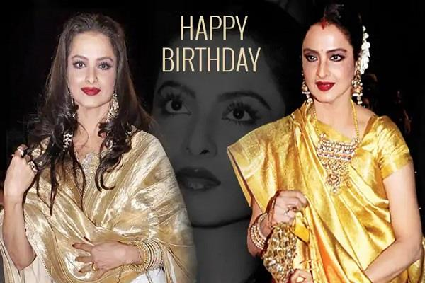 fans take over social media to wish veteran beauty rekha happy birthday