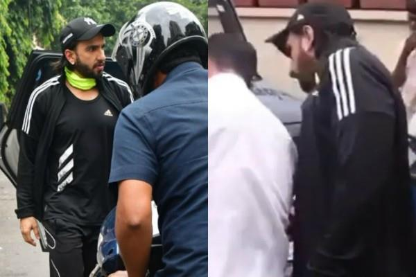 ranveer singh mercedes get scratched by bike