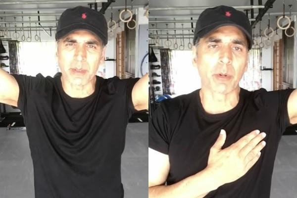 akshay kumar share video and talks about sushant and drugs case