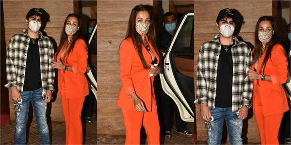 malaika arora looks bold as she spotted with son for birthday eve