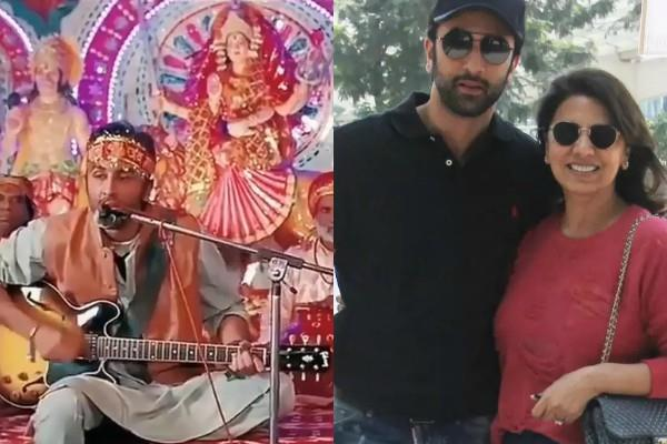 ranbir kapoor sings bhajan neetu kapoor shared video