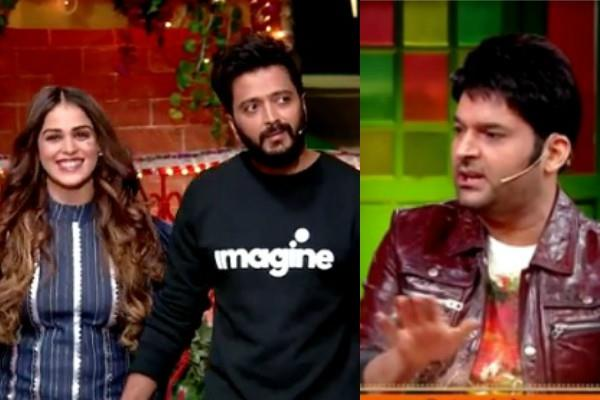 riteish deshmukh reveals secrets about personal life in the kapil sharma show